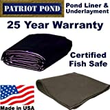 5 x 5 45 mil EDPM Patriot Pond Liner & Underlayment Combo by Patriot