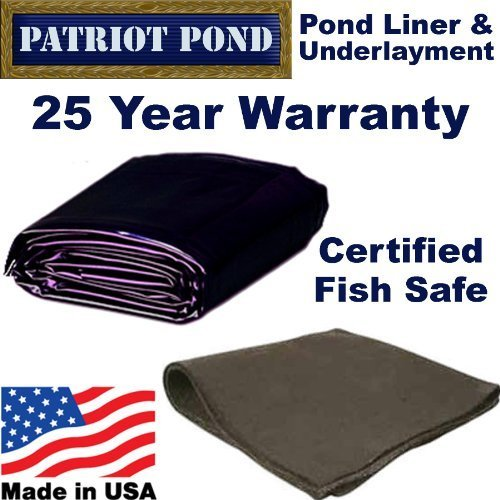 5 x 5 45 mil EDPM Patriot Pond Liner & Underlayment Combo by Patriot