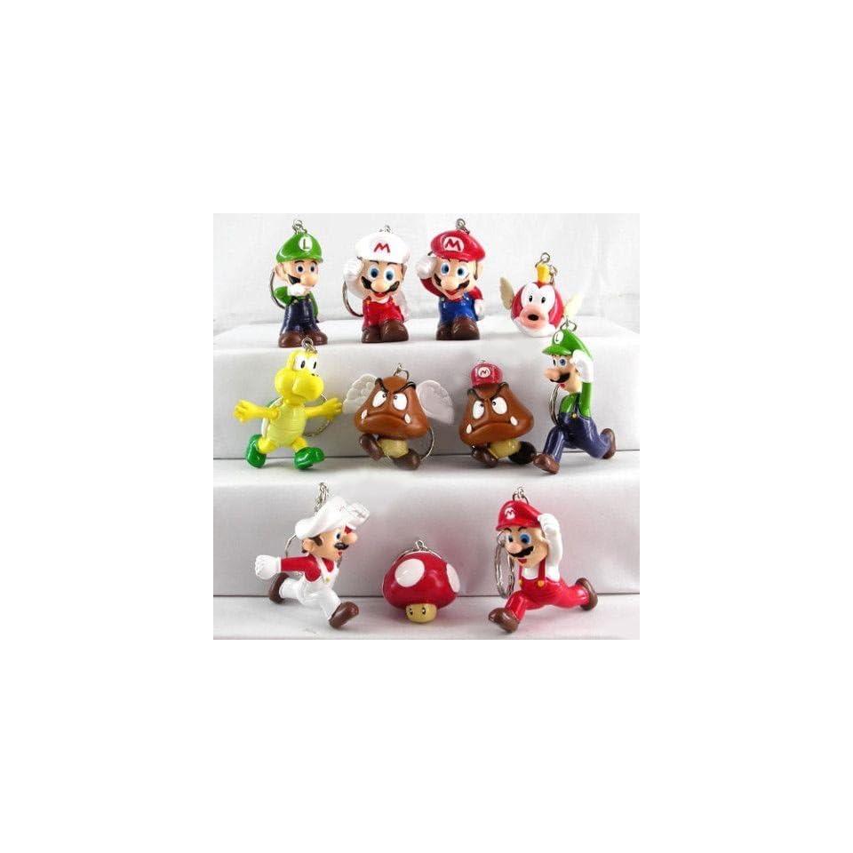 Nintendo Super Mario Bros Figure Keychain Set Of 11   11