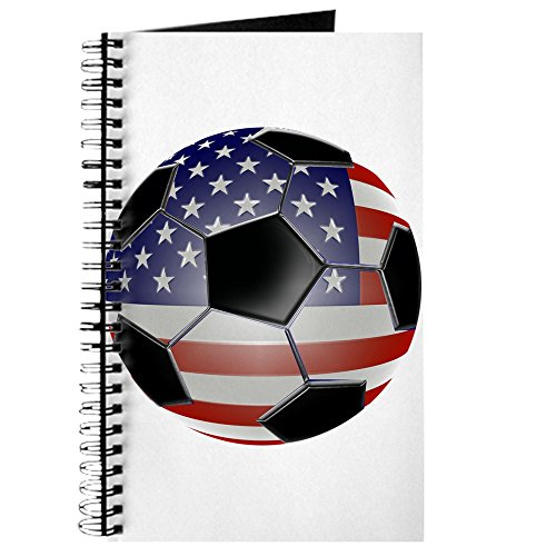CafePress US Flag Soccer Ball Journal Spiral Bound Journal Notebook, Personal Diary, Lined