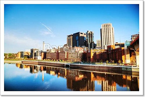 Downtown Of St. Paul, Mn Paper Print Wall Art (12 in. x 18 - Mn Downtown