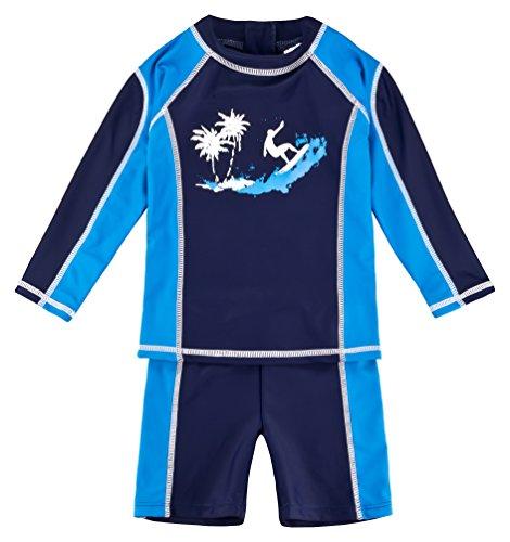 Landora®: Baby- en kinderbadkleding met lange mouwen, set van 2 met uv-bescherming