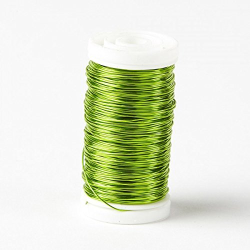 Floristrywarehouse Metallic Wire Reel 3.5 oz Lime Green by Oasis