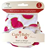 CuteyBaby That's a Wrap Diaper Cover, Big Pink