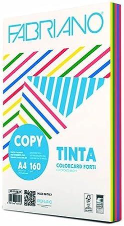 Carta Copy Tinta Forte gr.160 A4 250 Fogli Rosso