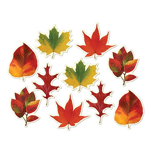 "Beistle 99096 Mini Leaf Cutouts, 4""-4.75"", 10 Piece -"