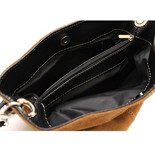 Shoulder Bag Real Leather Ladies Handbag Italian Aossta Medium Royal Suede Blue Hobo Tote Slouch 5YTwP5qx