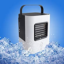 YOUDirect Personal Space Air Cooler Fan, USB Portable Mini Air Conditioner Fan, Desktop Computer Fan Small Cooling Humidifier Fan with Portable Handle