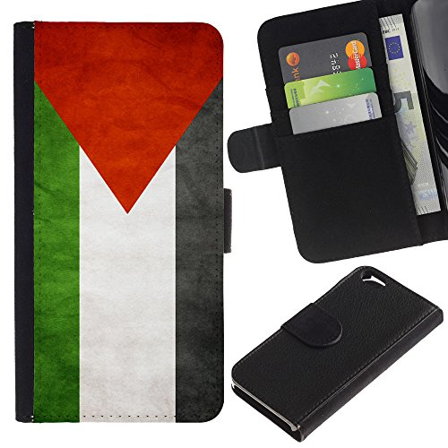 EuroCase - Apple Iphone 6 4.7 - Palestine Grunge Flag - Cuir PU Coverture Shell Armure Coque Coq Cas Etui Housse Case Cover
