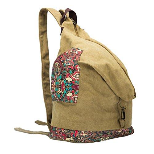Chang Spent Lona de la universidad de las mujeres Bolso personalizado del recorrido Bolso de hombro Bolso de la mochila(Color opcional) , blue Brown