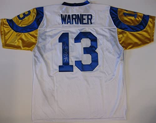check out 0ff50 6ec07 Kurt Warner St. Louis Rams, Signed, Autographed, Jersey, a ...