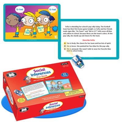 Super Duper Publications Social Inferences Story Fun Deck Flash Cards with Secret Decoder Educational Learning Resource for Children by Super Duper Publications