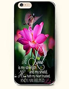 iPhone 6 Case,OOFIT iPhone 6 (4.7) Hard Case **NEW** Case with the Design of The Lord is my strength and my shield, in him hath my heart trusted and I am helped. Psalm 28:7 - Case for Apple iPhone iPhone 6 (4.7) (2014) Verizon, AT&T Sprint, T-mobile