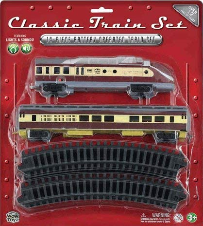 WowToyz Classic Train Set - Diesel Engine with Passenger Car -