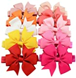 BESTIM INCUK 20-Piece Baby Girls Elastic Bowknot Hair Bow Headband Hairband