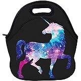 AOTIGO Unicorn Horse Galaxy Space Neoprene Lunch Bag...