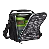 Rubbermaid LunchBlox Lunch Bag, Medium, Black Etch, Black, (1813501)