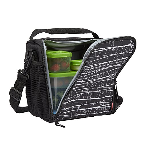 - Rubbermaid LunchBlox Lunch Bag, Medium, Black Etch