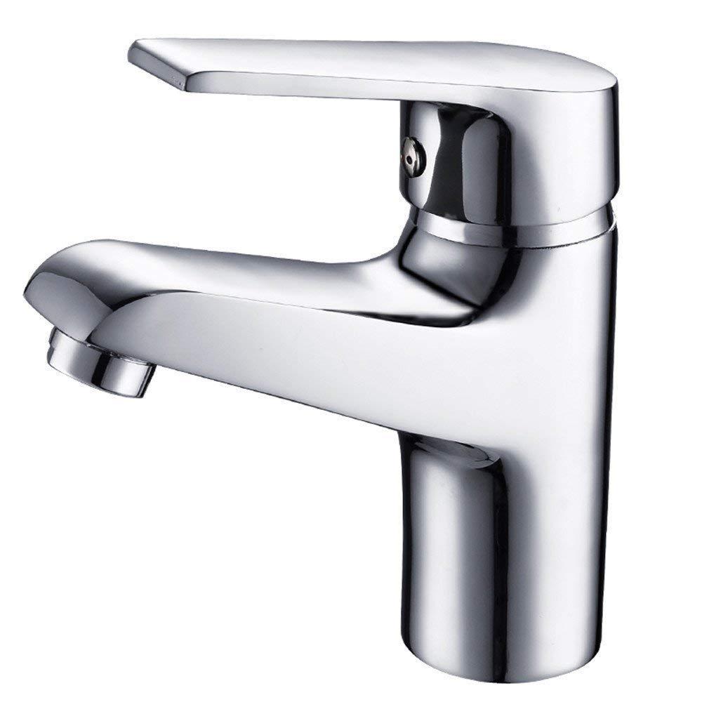 Oudan Cold and Hot Single Hole Basin Faucet Full Copper Washbasin Faucet Ceramic Valve Core (color   -, Size   -)