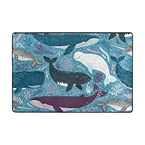 51crQQCQRdL._SS300_ Whale Area Rugs & Whale Runners