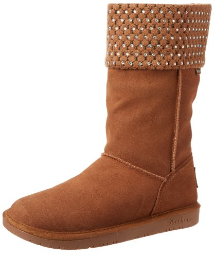 Skechers Women's Shelby's-Mid Diamond Snow Boot Chestnut ENQs3Ed4Df