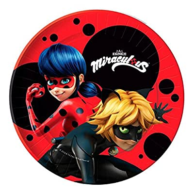 'Pack 10 Plates Party Marvelous Ladybug