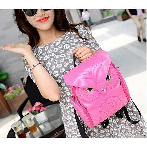 en Light Nouvelles Sac Dos Coréenne Femme À Version pink Dos La Sac PU À shuangjian Femmes Sac À De De Dos Hibou qURz7fB