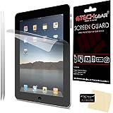 [2 Pack] TECHGEAR® Apple iPad with Retina Display / iPad 4 / 4th GEN Clear Screen Protectors with Cleaning Cloth & Application Card - for 16GB 32GB 64GB Wifi + 3G varients [iPad 2 / iPad 3 / iPad 4]