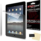 [2 Pack] TECHGEAR® Apple iPad 4, iPad 3 & iPad 2 ANTI GLARE / MATTE LCD Screen Protectors With Cleaning Cloth & Applicator Card