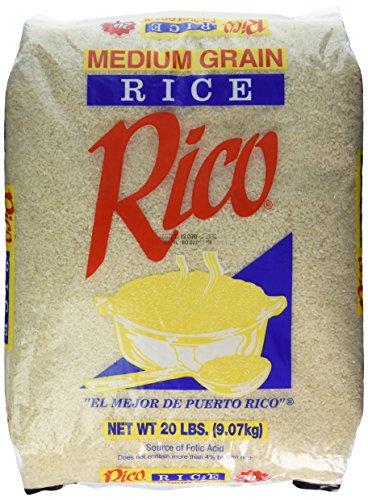Arroz Rico Medium Grain 20lbs by Rico