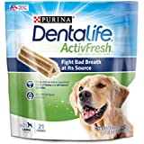 Purina DentaLife Large Breed Dog Dental Chews; ActivFresh Daily Oral Care Large Chews - 21 ct. Pouch
