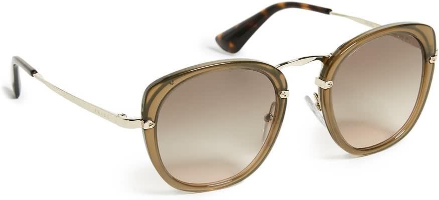 برادا نظارة شمسية للنساء , بني - 0PR58US 31D3D049