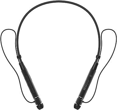 BluGear - Auriculares Bluetooth con banda para el cuello, auriculares inalámbricos con Bluetooth, a prueba de sudor, con micrófono, cómodos auriculares inalámbricos retráctiles para smartphones y dispositivos: Amazon.es: Electrónica