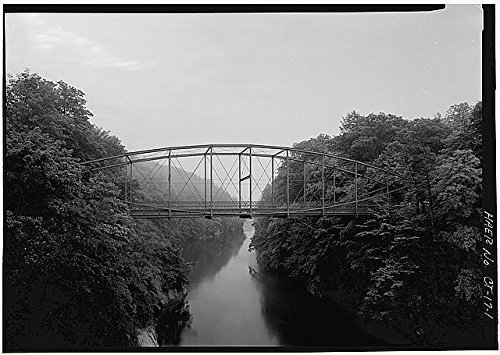 Photo: Lover's Leap Lenticular Bridge, New Milford, Litchfield County, Connecticut, CT . Size: 8x10 (Great Wall New Milford Ct)