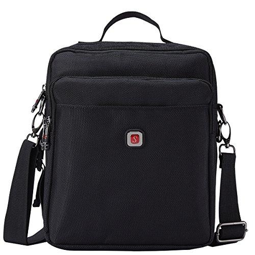 Soperwillton Men Bag 2017 Male Black Shoulder Bag Oxford 1680D Water-proof Zipper Corssbody Messenger Bag
