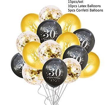 YYFBM 30 40 50 Globo del 60 Aniversario Feliz cumpleaños ...