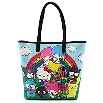 ddc5ed127 Loungefly x Hello Sanrio Characters/Rainbow Tote Bag (Multi, One Size)