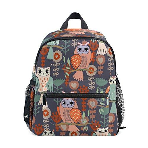 Bag Backpack on School Toddler Kids for Girls Pre ZZKKO Flower Branches Floral Owl Boy Animal Kindergarten Tree w8BnqFP4