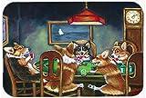 Caroline's Treasures 7416CMT ''Corgi Playing Poker'' Kitchen or Bath Mat, 20'' H x 30'' W, Multicolor