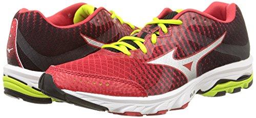 Mizuno Scarpa Running Sneaker Uomo Wave Elevation Rosso Nero Giallo