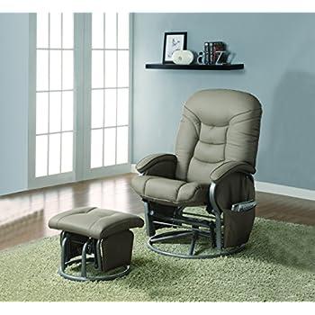 Amazon Com Merax 174 Brown Luxury Suede Fabric Nursery