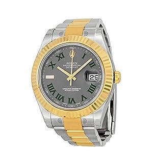 Best Epic Trends 51crSvOjqaL._SS300_ Rolex Datejust II 41mm Grey Roman Dial Gold Bazel Men's Watch 116333