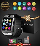 Electronics : Bluetooth Smart Watch With Camera Waterproof Smartwatch Touch Screen Phone Unlocked Watch Cell Phone Smart Wrist Watch Cell Phone Watch For Android Phones Samsung IOS Iphone 7 Plus 6S Men Women Kids
