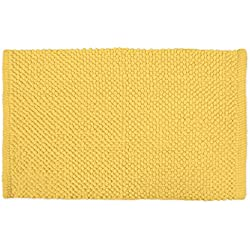 "DII Ultra Soft Plush Spa Cotton Pebble Absorbent Chenille Bath Mat Place in Front of Shower, Vanity, Bath Tub, Sink, and Toilet, 17 x 24"" - Yellow"