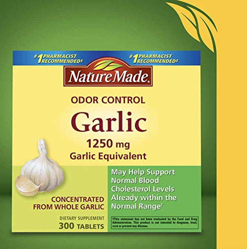 Nature Made Odor Control Garlic, 1250mg, 300 Tabs ()