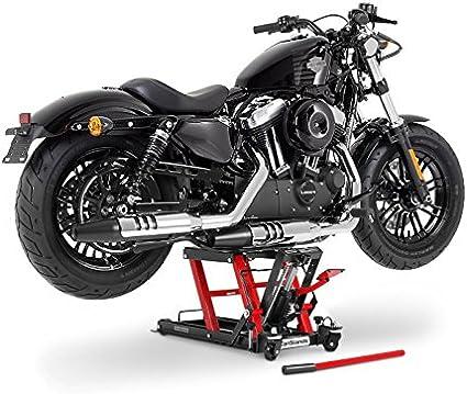 ConStands Motorrad Hebeb/ühne f/ür Harley Davidson Electra Glide Ultra Classic//Limited Hydraulisch XL 500kg Schwarz