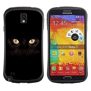 All-Round híbrido de goma duro caso cubierta protectora Accesorio Generación-I BY RAYDREAMMM - Samsung Galaxy Note 3 N9000 N9002 N9005 - Black Cat Siamese Panther House Pet