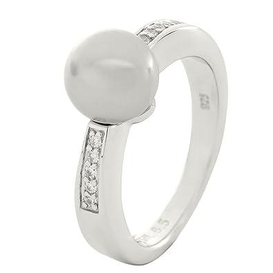 0cceaa70b2cd Fossil Jewelry Pearls - Anillo de plata de ley