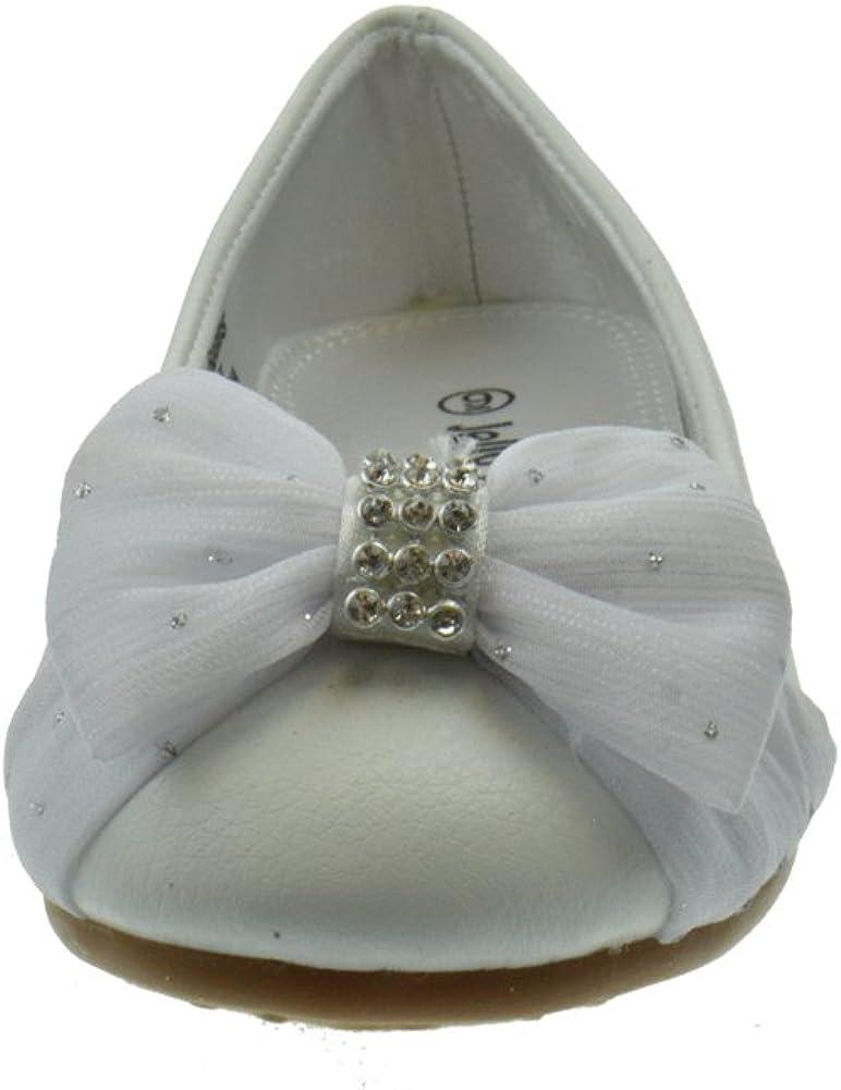 Coca Little Girls Patent Rhinestone Bow Ballet Ballerina Flats