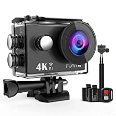 Capture Your World with a RUNME 4K Camera: The RUNME 4K HD sports action camera offers better quality images and videos, and makes your photos sharper, clearer and less distorted. The 2-inch high resolution display is a great way to review an...